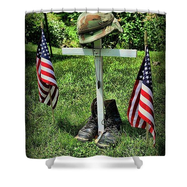 American Tribute  Shower Curtain