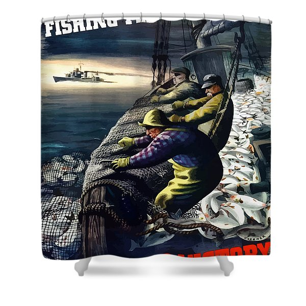 America's Fishing Fleet And Men  Shower Curtain