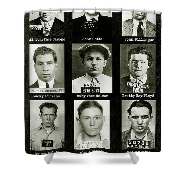 Americas Most Wanted Gangsters Shower Curtain
