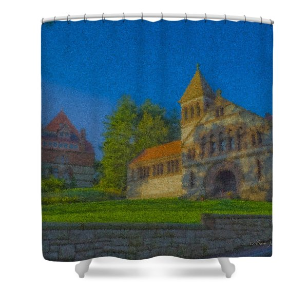 Ames Hall And Ames Free Library Shower Curtain