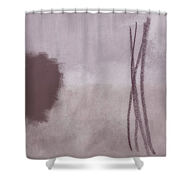 Amethyst 2- Abstract Art By Linda Woods Shower Curtain