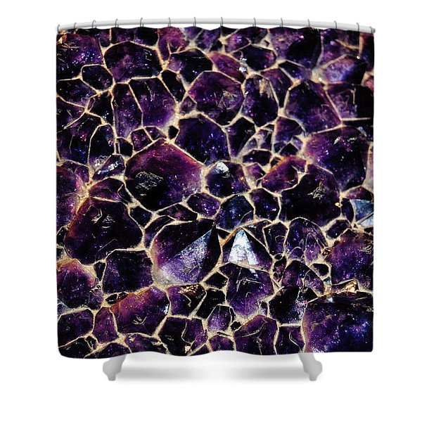 Amethyst Quartz Crystal Smithsonian Shower Curtain