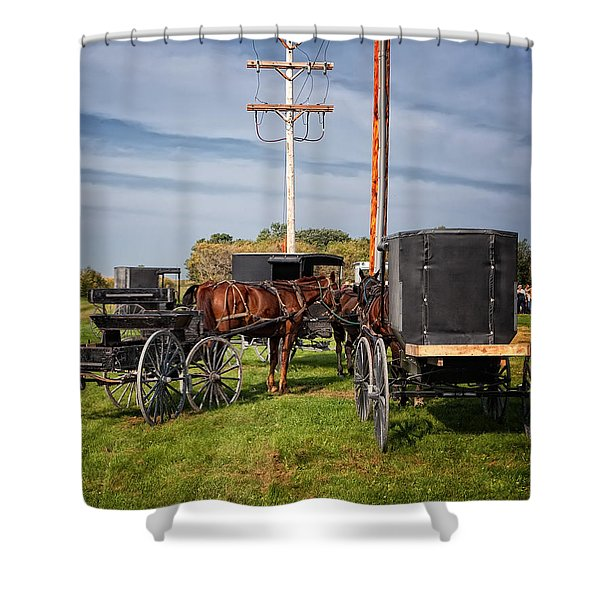 Amish At The Auction Shower Curtain