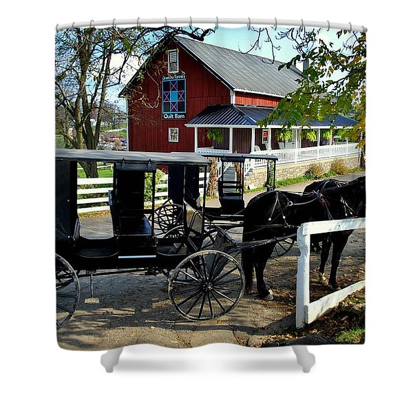 Amish Country Horse And Buggy Shower Curtain