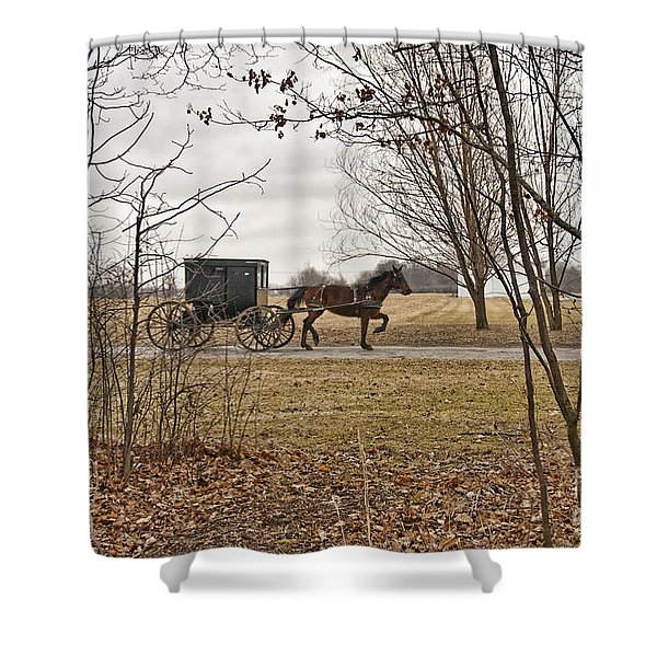 Amish Dreams Redone Shower Curtain