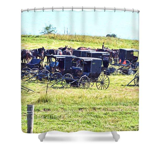 Amish Hillside Shower Curtain