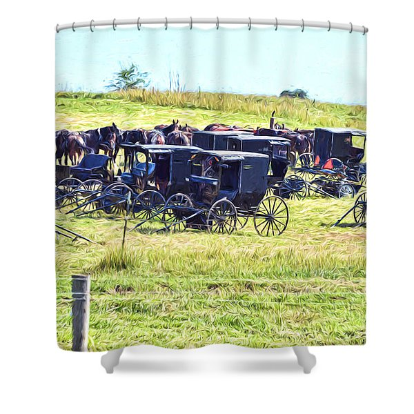 Amish Hillside Shower Curtain