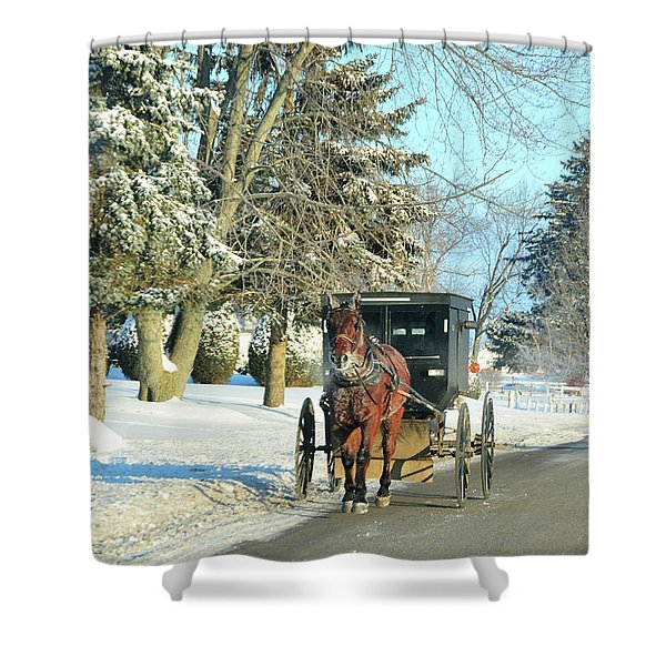 Amish Winter Shower Curtain