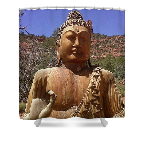 Amitabha Shower Curtain
