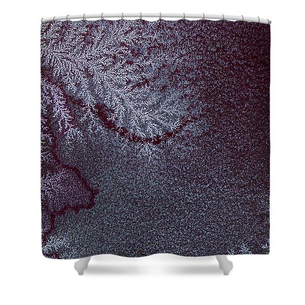 Ammonium Chloride Crystal Shower Curtain
