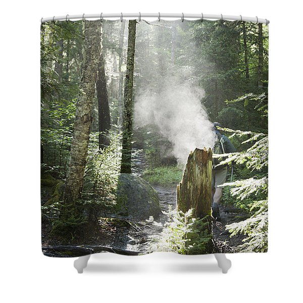 Shower Curtain featuring the photograph Ammonoosuc Ravine Trail - White Mountains New Hampshire Usa by Erin Paul Donovan