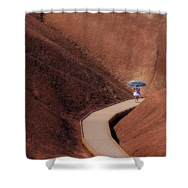 Among The Painted Hills Shower Curtain