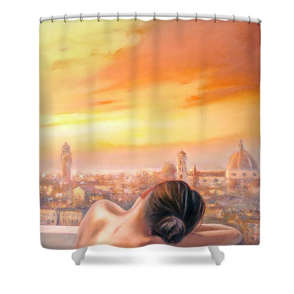 Amore Di Firenze Love Of Florence Shower Curtain