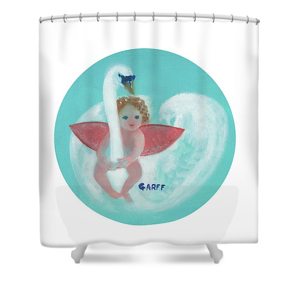 Amorino With Swan Shower Curtain
