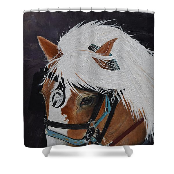 Amos - Haflinger - Horse Shower Curtain