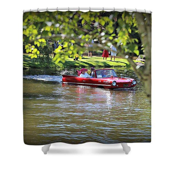 Amphicar Swimming Shower Curtain