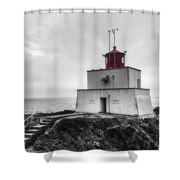 Amphitrite Point Lighthouse Shower Curtain