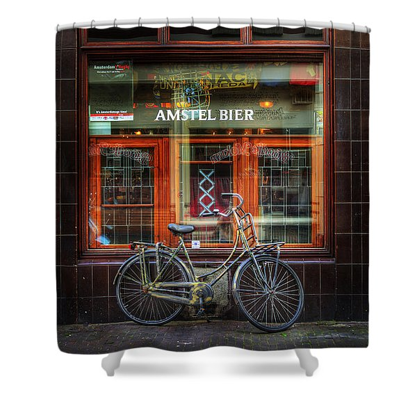 Amstel Bier Bicycle Shower Curtain