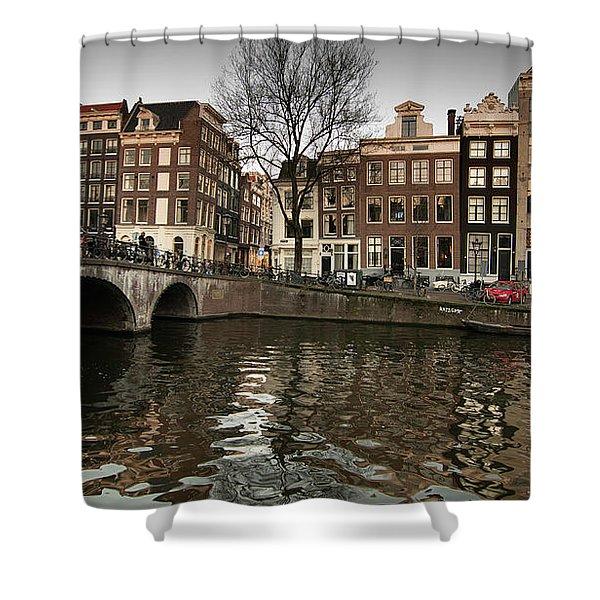 Amsterdam Canal Bridge Shower Curtain