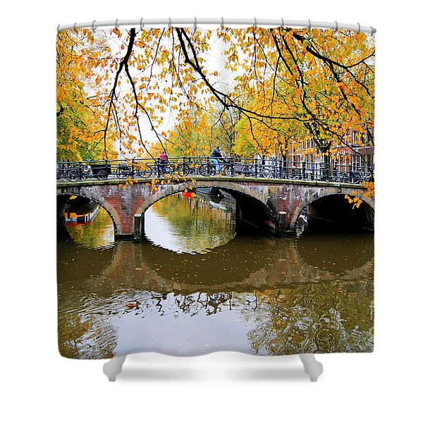 Amsterdam Canal Reflections Shower Curtain