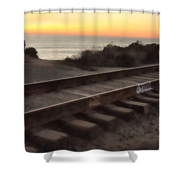 Amtrak On The Pacific Shower Curtain