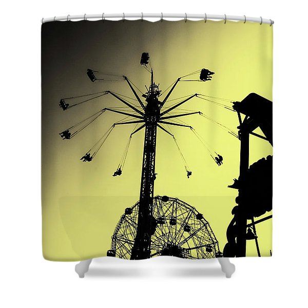 Amusements In Silhouette Shower Curtain