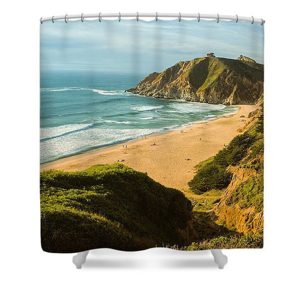 An Afternoon At The Beach Shower Curtain