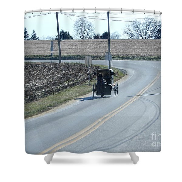 An Afternoon Buggy Ride Shower Curtain