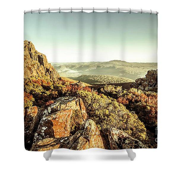 An Alpine Morning Shower Curtain