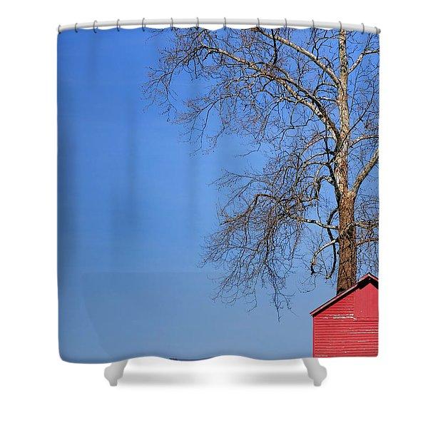 An Amish Scene Shower Curtain