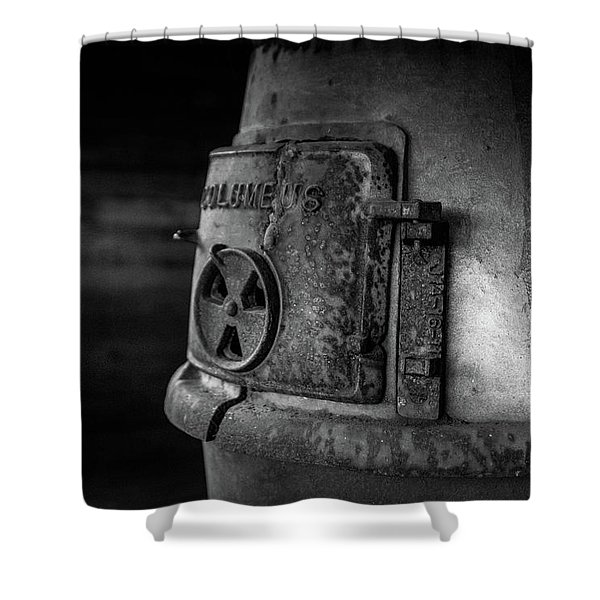An Antique Stove Shower Curtain