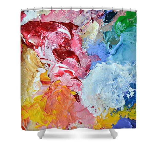 An Artful Blend Shower Curtain