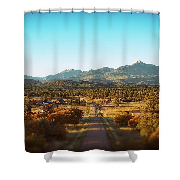 Shower Curtain featuring the photograph An Autumn Evening In Pagosa Meadows by Jason Coward