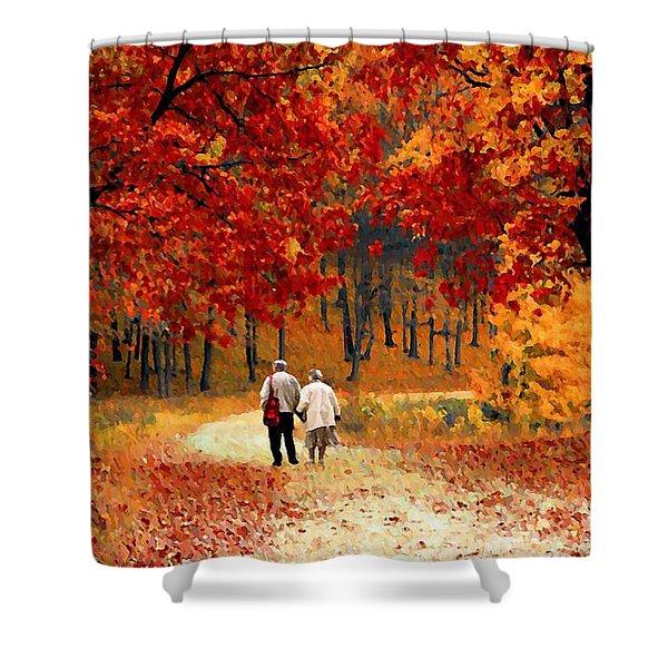 An Autumn Walk Shower Curtain