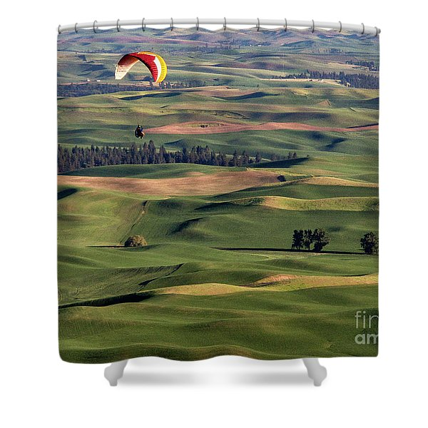 An Evening Flight Agriculture Art By Kaylyn Franks Shower Curtain