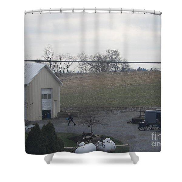 An Evening Game Shower Curtain