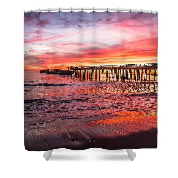 Seacliff Sunset Shower Curtain