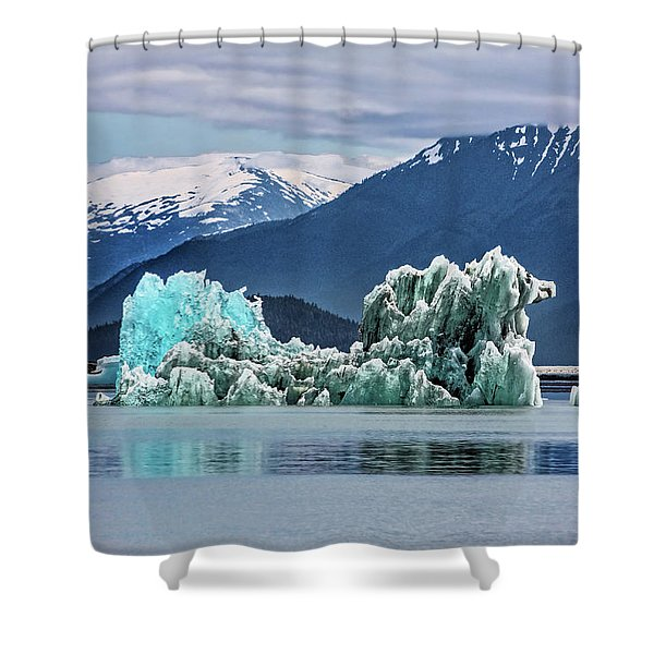 An Iceberg In The Inside Passage Of Alaska Shower Curtain