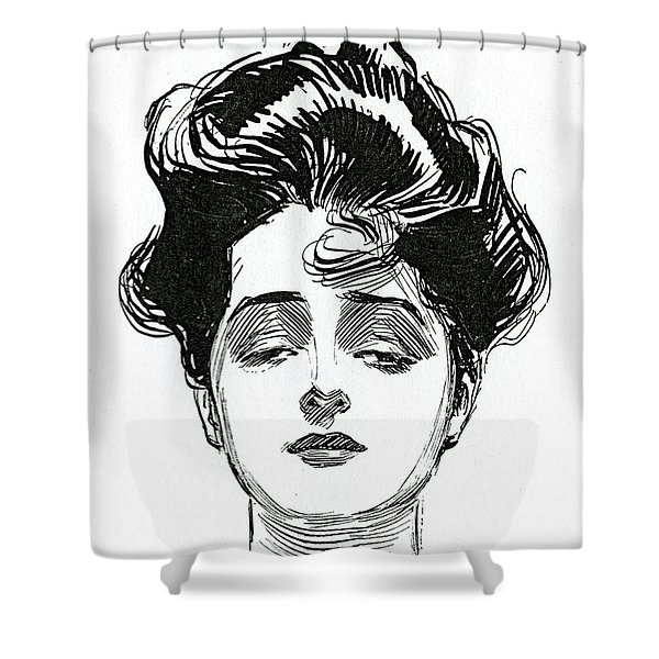 An Iconic Gibson Girl Portrait  Shower Curtain