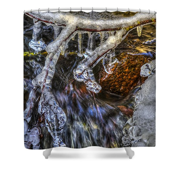 An Icy Creek Shower Curtain