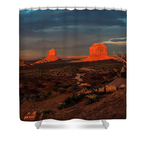 An Incredible Evening Shower Curtain