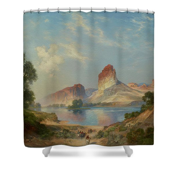 An Indian Paradise , Green River, Wyoming Shower Curtain