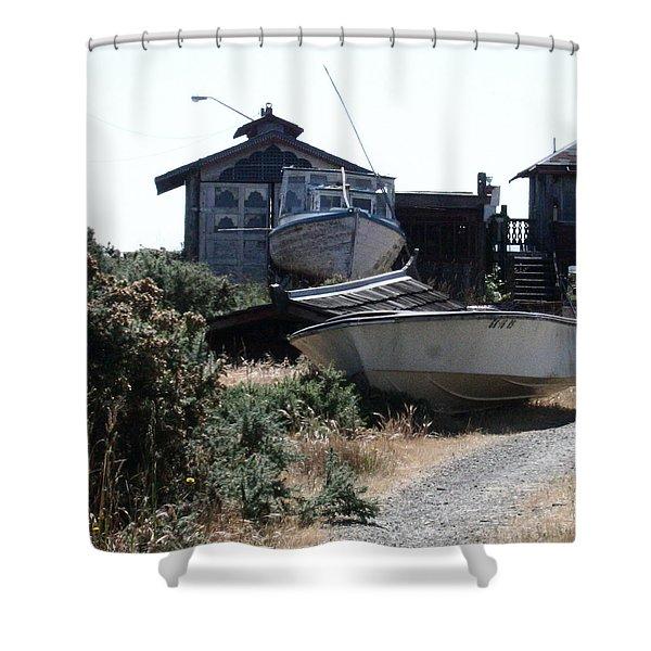 An Island Memory Shower Curtain