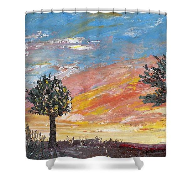 An Ohio Sunset Shower Curtain