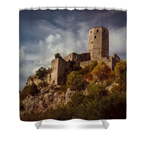 An Old Abandoned Castle Shower Curtain