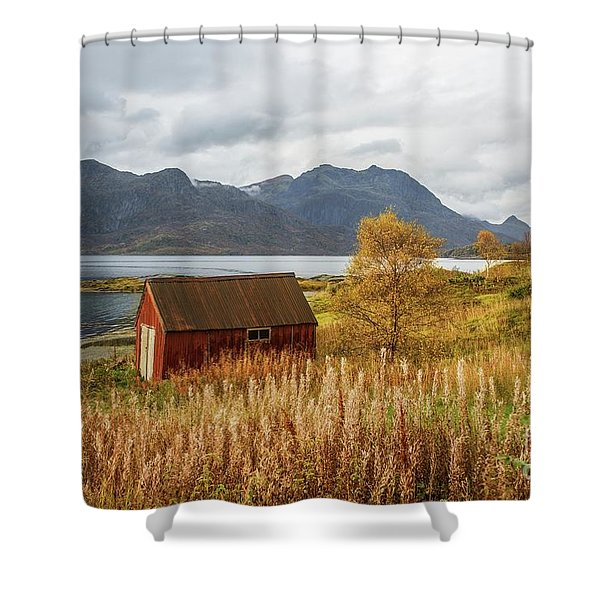 An Old Boathouse Shower Curtain