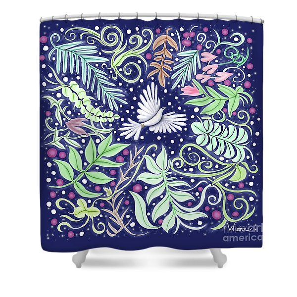 An Opening For A Dove Shower Curtain
