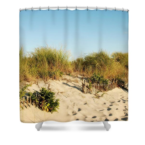 An Opening In The Fence - Jersey Shore Shower Curtain
