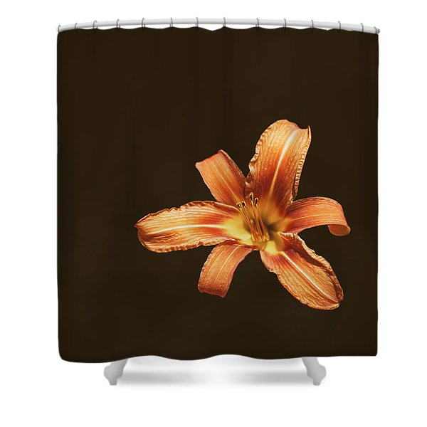 An Orange Lily Shower Curtain