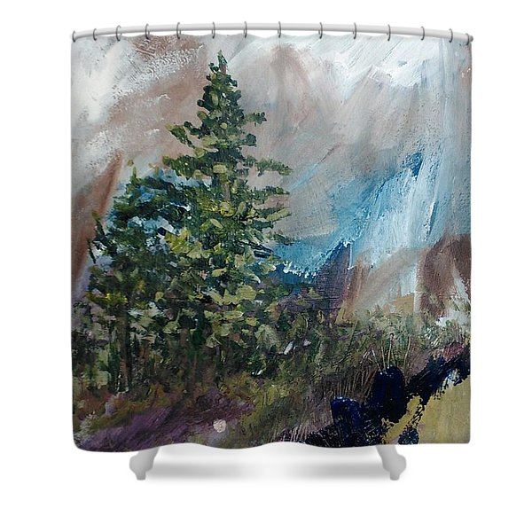 An Yosemite Afternoon Shower Curtain